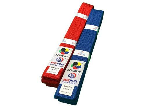 BestSport UK WKF 4cm Red or Blue Belt